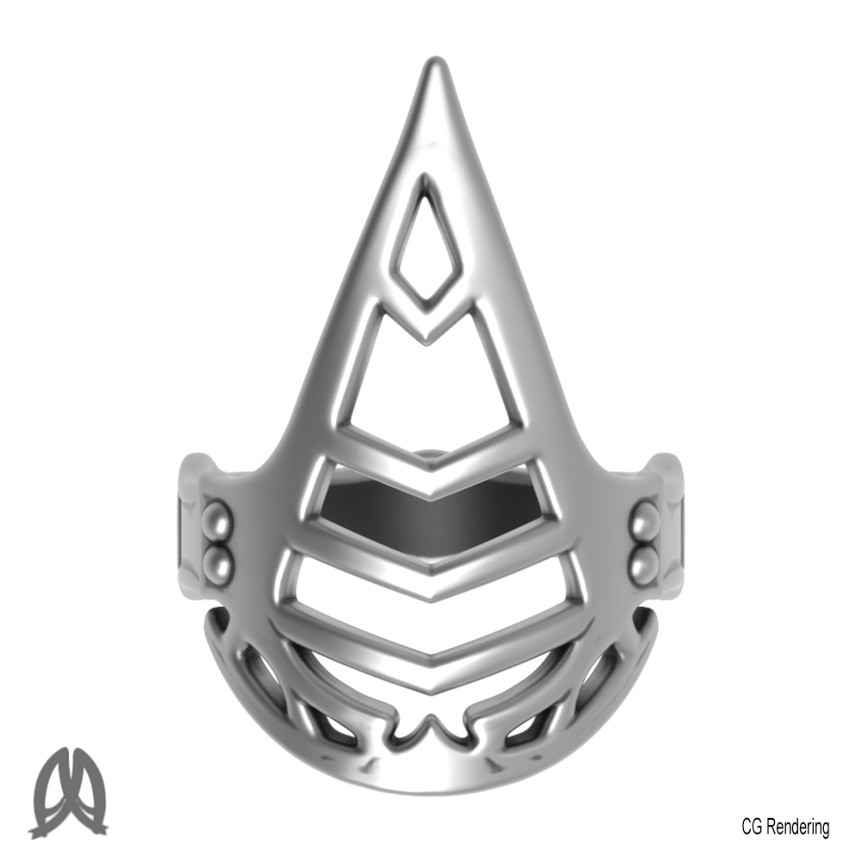 Assassin Creed Ring Top View.jpg Download free STL file Assassin Creed Ring • Model to 3D print, Double_Alfa_Jewelry