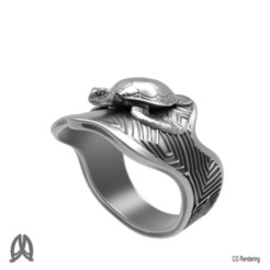 Download 3D printing models Turtle Ring, Double_Alfa