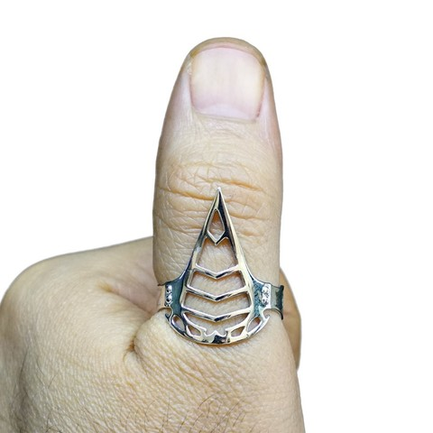 Assassin Creed Ring Actual Print.jpg Download free STL file Assassin Creed Ring • Model to 3D print, Double_Alfa_Jewelry