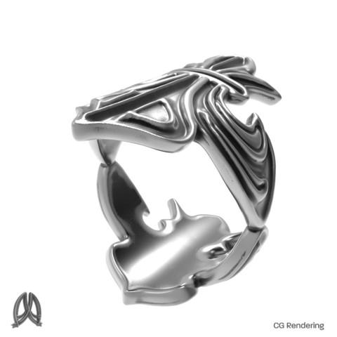 3D printer models Fleur De Lis Ring, Double_Alfa
