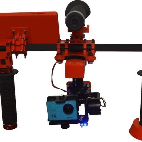Estabilizador de Video.jpg Download free STL file Video Stabilizer • Model to 3D print, relieves3d
