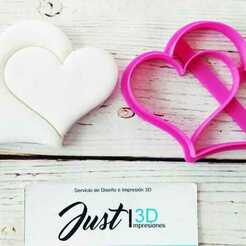 WhatsApp Image 2021-01-11 at 9.14.40 AM (4).jpeg Download free STL file Double Heart Valentine's Day • 3D printable template, FloR