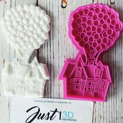 Download 3D printing files COOKIE CUTTER HOUSE UP BALLOONS, floreyes80