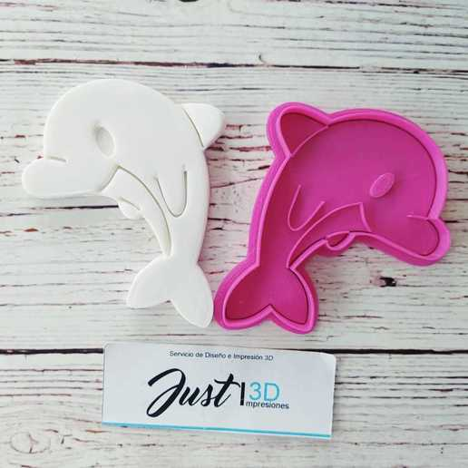 Download STL file COOKIE CUTTER DOLPHIN, floreyes80