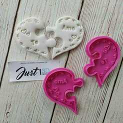 """WhatsApp Image 2021-01-15 at 1.17.09 PM.jpeg Download STL file Valentine's Day """"Puzzle Heart"""" • 3D printable design, FloR"""