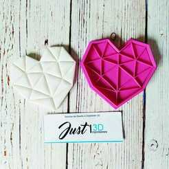 """WhatsApp Image 2021-01-11 at 9.15.34 AM (1).jpeg Download STL file Valentine's Day """"Origami Heart"""" • 3D print template, FloR"""