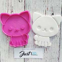 WhatsApp Image 2020-05-08 at 10.21.08 AM (7).jpeg Download STL file Cookie Cutter Cat • 3D printing object, FloR
