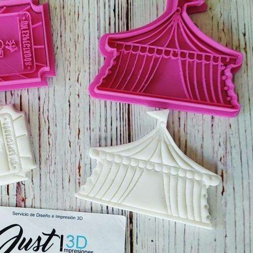 Download 3D printing templates COOKIE CUTTER CARP CIRCUS, floreyes80