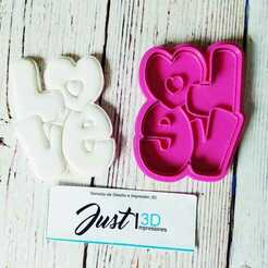 """WhatsApp Image 2021-01-11 at 9.15.34 AM (3).jpeg Download STL file Valentine's Day """"LOVE LOVE"""" • 3D printable object, FloR"""