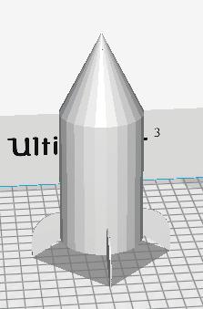 Screen Shot 2018-02-05 at 3.14.02 PM.png Download free STL file Stratomaker Rocket Mascot • 3D print model, cmcdow