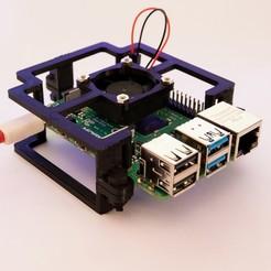 _DSC0360-Modifier.jpg Télécharger fichier STL gratuit Minimal case for raspberry pi 4 with cooling fan 30x30x7mm • Design pour impression 3D, Floriane