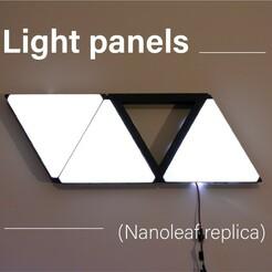 0.jpg Download free STL file Light panels - nanoleaf replica - wall panel • 3D printable template, Floriane