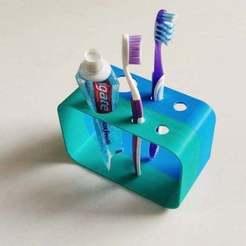 Impresiones 3D gratis Porta cepillo de dientes, prasadc