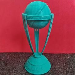 Imprimir en 3D Trofeo de la Copa Mundial de Críquet del ICC Modelo impreso en 3D, prasadc