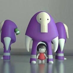 stl file Girl Figure Designer Toy, hermit