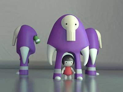 toy_3dprint_modo.jpg Download STL file Monster Figure Designer Toy • 3D printable model, helloludo