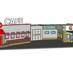 Download STL PREMIUM N Scale Rural Town Gas Station & Cafe (#1 of 7 in set), MFouillard