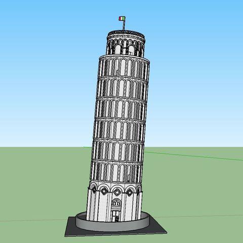 Download 3D print files PREMIUM N Scale Leaning Tower of Pisa, MFouillard