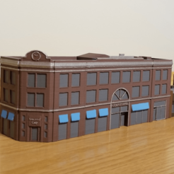 Download free 3D printer model N-Scale Building #1 (set), MFouillard