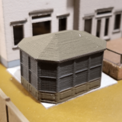 Free 3D printer files Gazebo (N-Scale), MFouillard