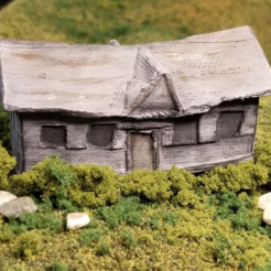 Free 3d printer files Abandoned House (N-Scale), MFouillard
