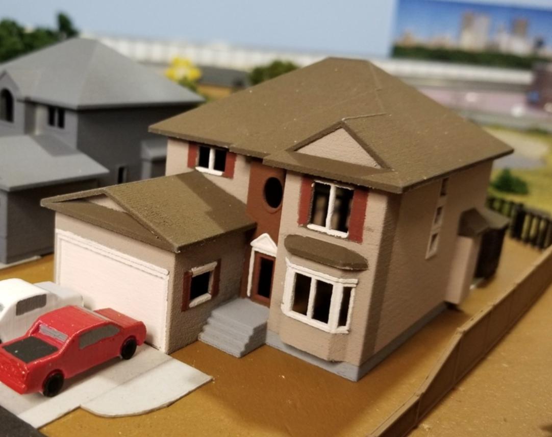 Capture d'écran 2018-02-08 à 10.45.57.png Download free STL file My Suburban House (N-Scale) • 3D printer object, MFouillard
