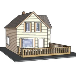Download 3D printing files PREMIUM N Scale Rural Town Small Home (#2 of 7 in set), MFouillard