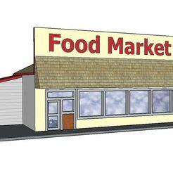 Download 3D printer designs PREMIUM N Scale Rural Town Grocery Store (#3 of 7 in set), MFouillard