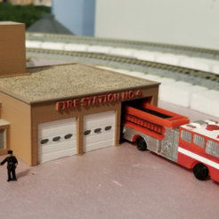 Free 3d print files Fire Station No 4 (set), MFouillard