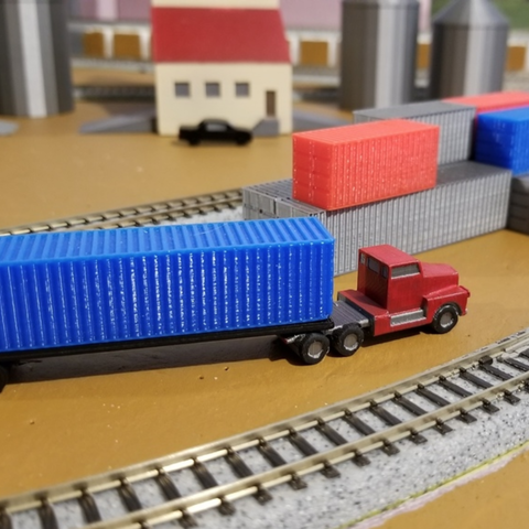 Download free STL file Cargo Container Set (N-Scale), MFouillard