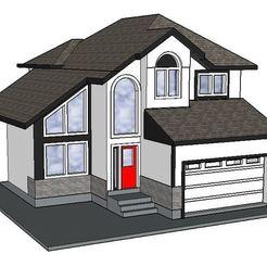 Modelos 3D para imprimir PREMIUM N Scale Suburban Home #3, MFouillard