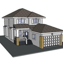 Fichier imprimante 3D PREMIUM N Scale Maison de banlieue #4, MFouillard