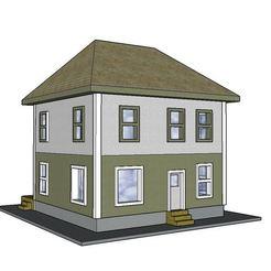 3D printing model PREMIUM N Scale Prairie Farm House, MFouillard