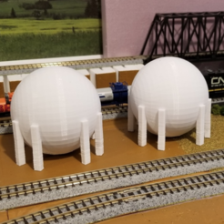 Free 3d printer files Natural Gas Tank (N-Scale), MFouillard