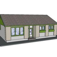 Diseños 3D PREMIUM N Scale Bungalow Suburbano #1, MFouillard