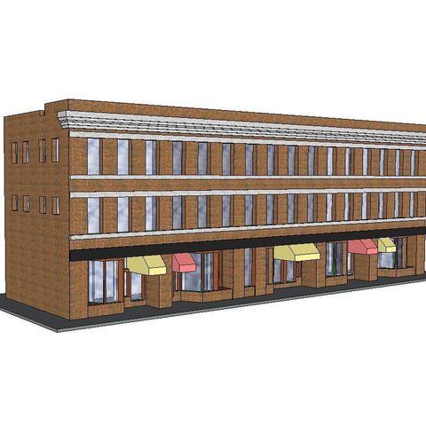 3D printer models PREMIUM N Scale Building #9, MFouillard
