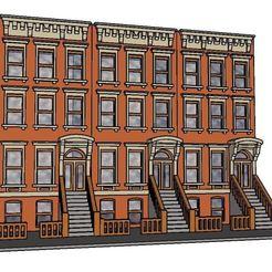 Modelos 3D Escala PREMIUM N Brownstone de Brooklyn, MFouillard