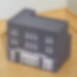 Free N-Scale Building #4 (set) STL file, MFouillard