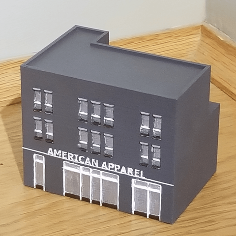 Free stl file N-Scale Building #4 (set), MFouillard
