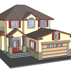 STL PREMIUM N Scale Suburban Home #2, MFouillard