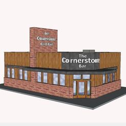 Cornerstone Scenic.JPG Download STL file PREMIUM N Scale Building #6 • 3D print model, MFouillard
