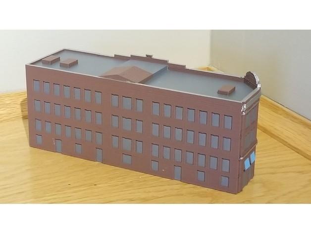 f2edb694c03c8a989cf2103750d04d52_preview_featured.jpg Download free STL file N-Scale Building #1 (set) • 3D printable object, MFouillard