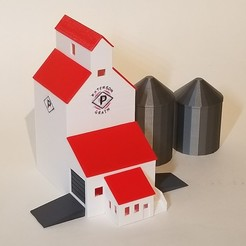 Modelos 3D PREMIUM N Elevador de grano de escala (incl. Silos), MFouillard