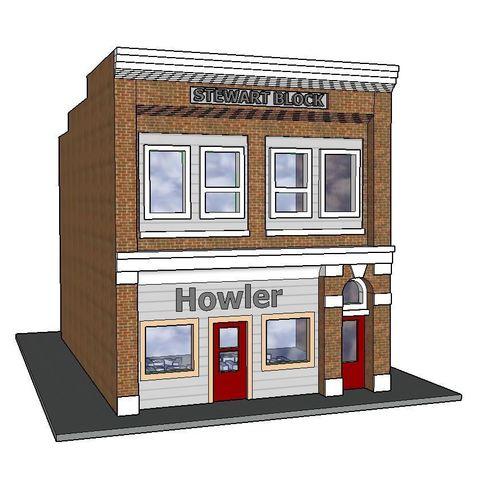 STL files PREMIUM N Scale Rural Newspaper Building (#7 of 7 in set), MFouillard