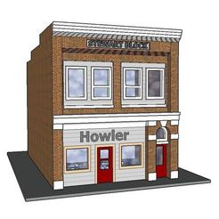 Diseños 3D PREMIUM N Scale Rural Newspaper Building (#7 de 7 en el set), MFouillard