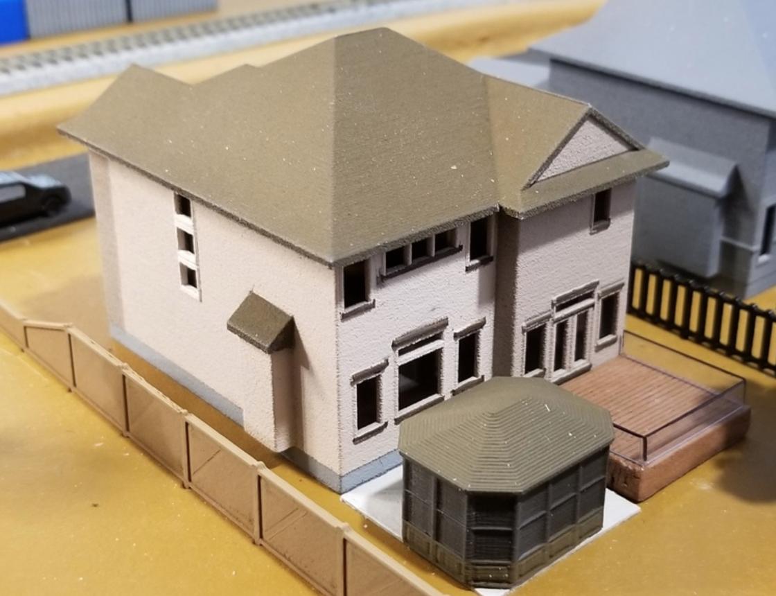 Capture d'écran 2018-02-08 à 10.46.04.png Download free STL file My Suburban House (N-Scale) • 3D printer object, MFouillard