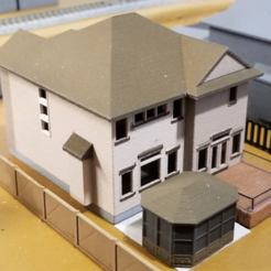 Free 3D model My Suburban House (N-Scale), MFouillard