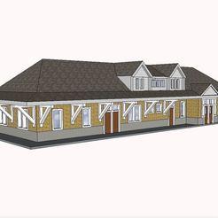 Impresiones 3D Estación de ferrocarril PREMIUM N Scale Small Town Railroad Station, MFouillard