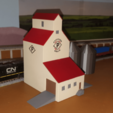 Free Grain Elevators (N-Scale) 3D model, MFouillard