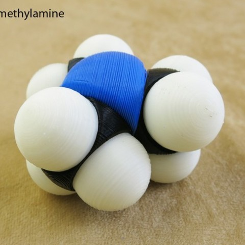 Free 3D printer designs Space-filling molecular models: Nitrogen expansion set, harfigger